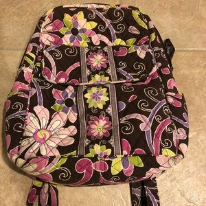 Mini Vera Bradley Backpack - Purple Punch Pattern